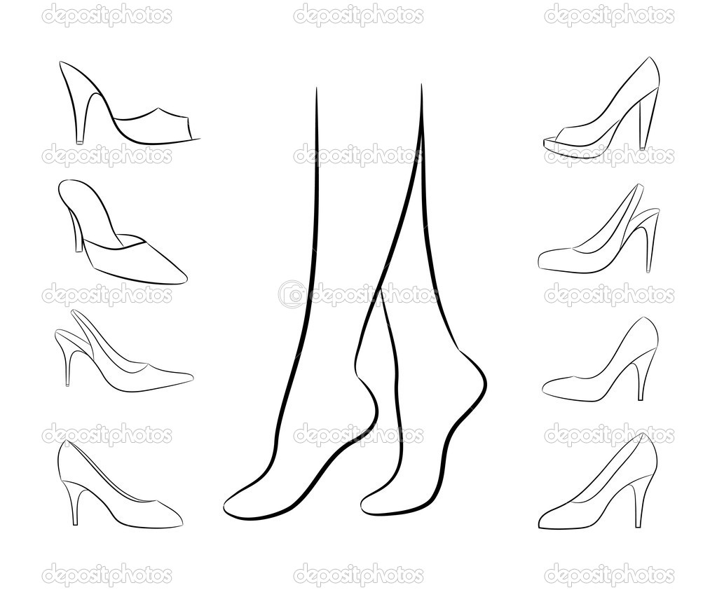 Stock Illustration Vector Silhouette Of Feet And on 5 Feet 3 Inches