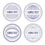 A set of vector guilloche seal — Stock Vector #6005544