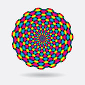 Vector abstract rainbow circles — Stock Vector