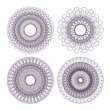 Set of guilloche rosettes — Stock Vector