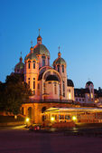 在 zarvanytsya 中的乌克兰希腊天主教修道院。 — 图库照片
