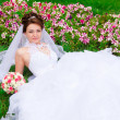 Portrait of a beautiful bride — Stockfoto