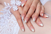 Bride's manicure — Stock Photo