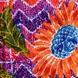 Colorful  prints cloth — Stock Photo