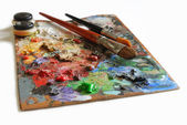 Artistic palette — Stock Photo