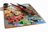 Artistieke palet — Stockfoto
