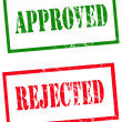 Approved and rejected - Foto Stock