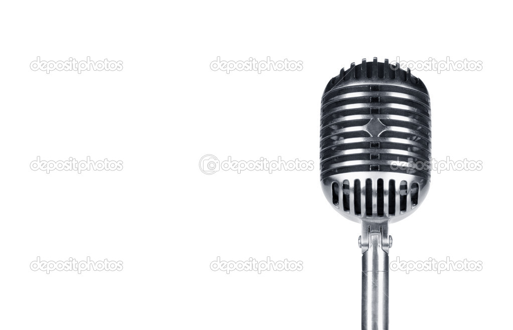 Retro microphone isolated on the white background — Stock Photo #5431541