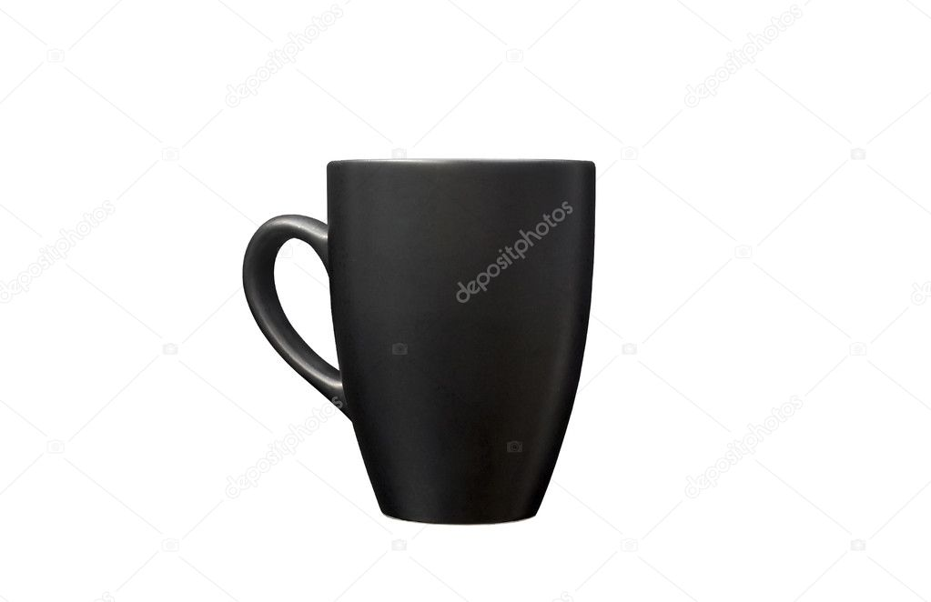 Black mug empty blank isolated on white background — Stock Photo #5555341