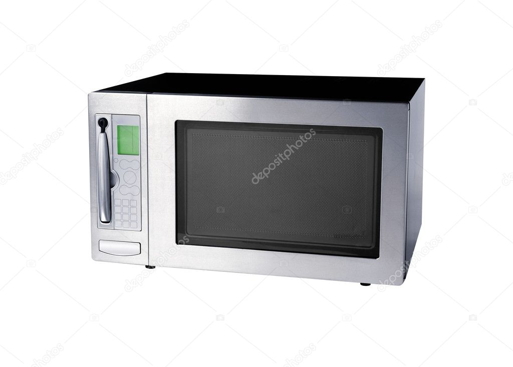 Microwave oven isolated on a white background  Stock Photo #5595829