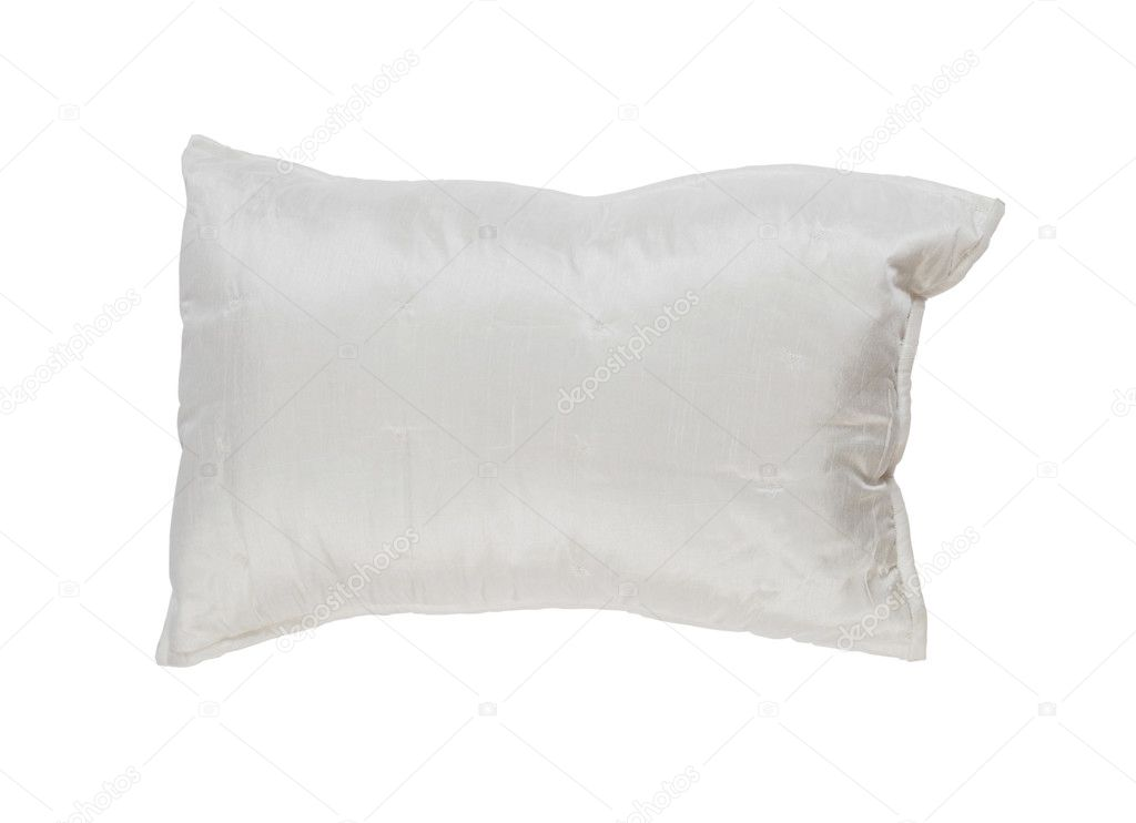 White pillow. Isolated on a white background  Stock Photo #5595838