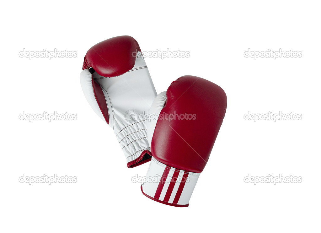 Boxing gloves isolated on a white background  Stock Photo #5658041