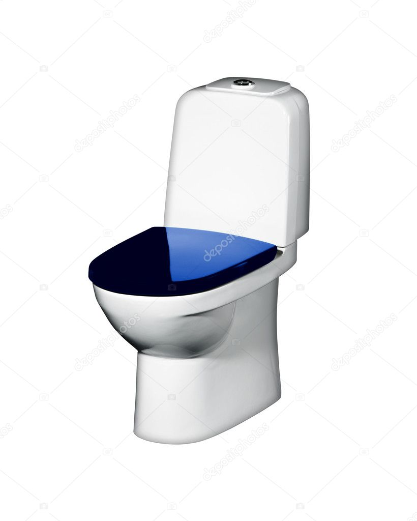 Toilet bowl isolated on a white background — Stock Photo #5690214
