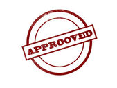 Approved stamp — Stock Photo