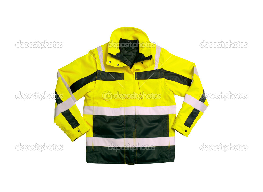 Emergency safety jacket isolated on white background — Stock Photo #5910298