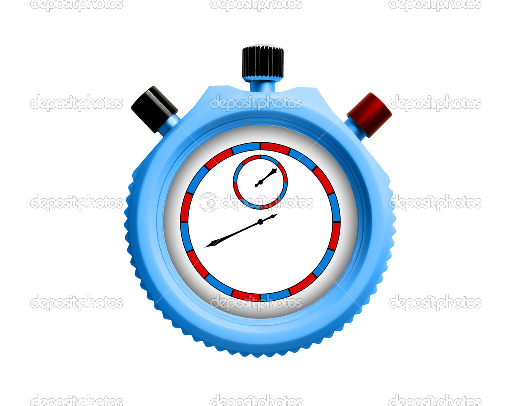 Stopwatch on white background. Isolated 3D image  Stock Photo #6011289