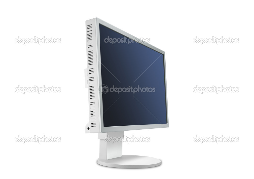 Wide Screen LCD isolated on a white background  Stock Photo #6132071