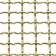 Stock Photo: Metallic net with white background