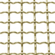 Metallic net with white background — Stock Photo