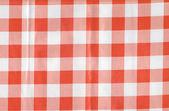 Fundo de tecido natural em uma célula de vermelho e branco — Fotografia Stock