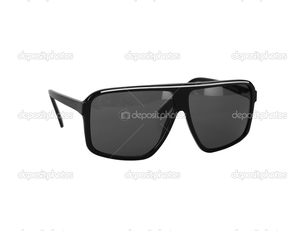Black glasses isolated isolated on white background — Stock Photo #6407637