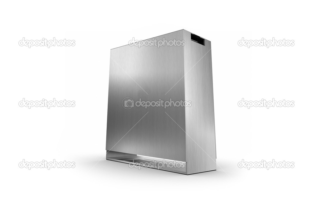 Metal box isolated on a white background — Stock Photo #6407686