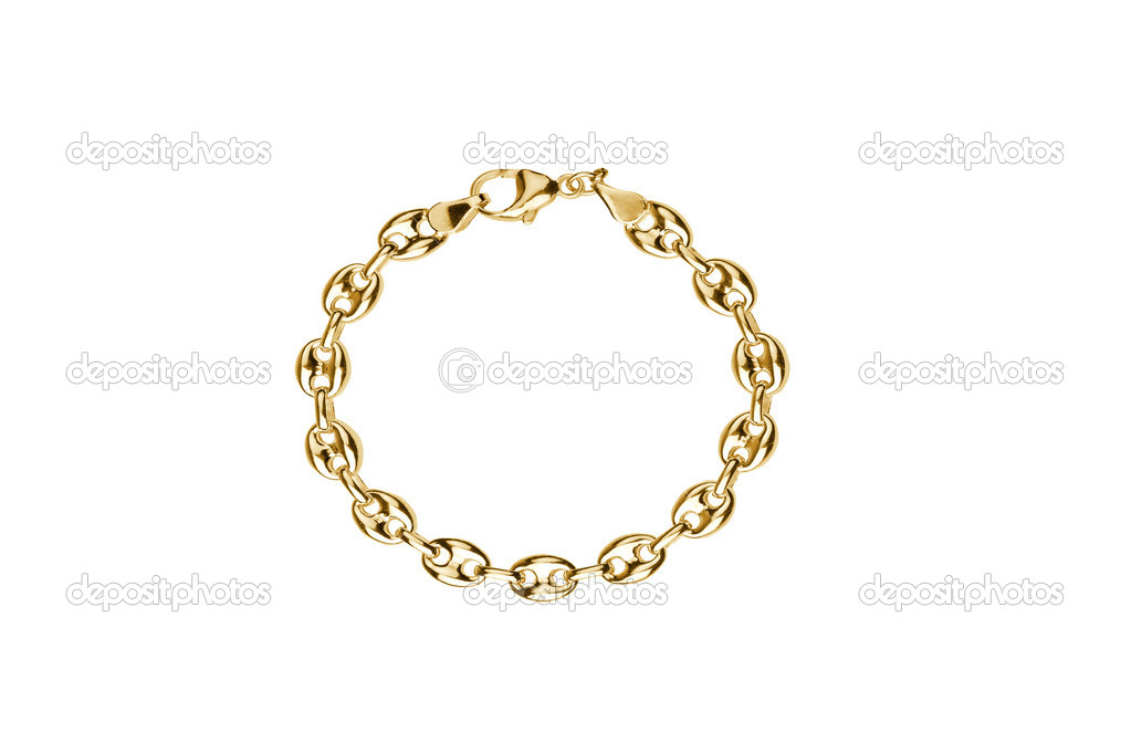 Gold jewelry isolated on a white background — Stock Photo #6407953