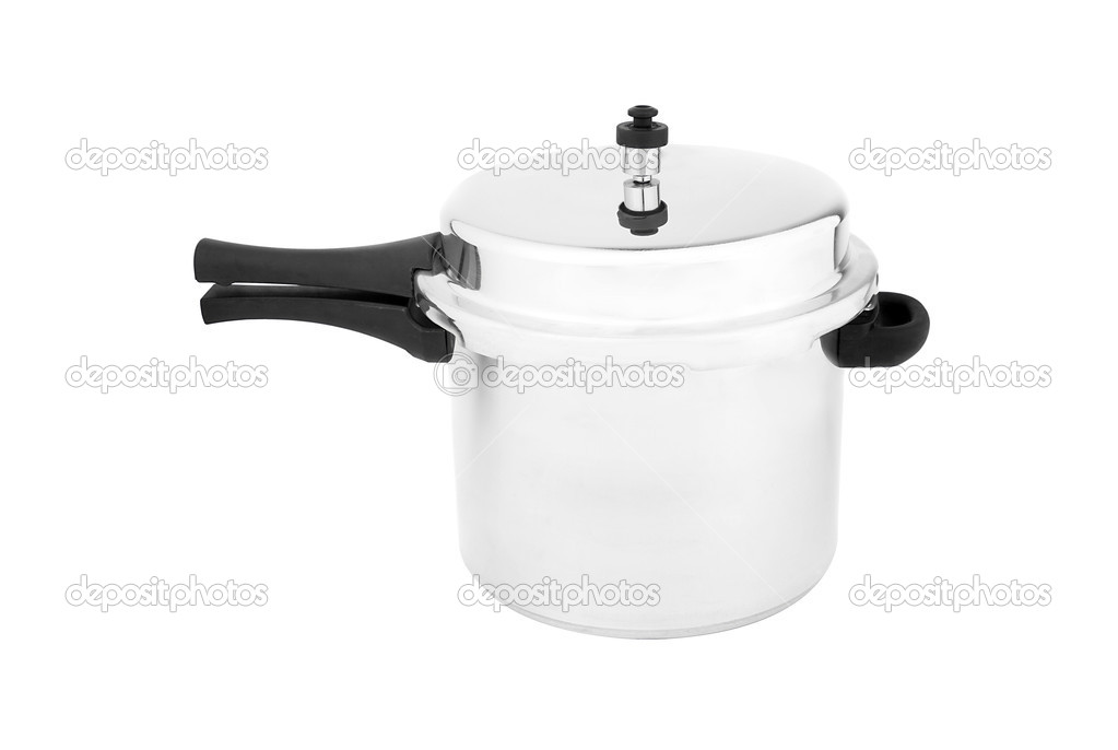 Stainless steel pot isolated on white — Stock Photo #6587491