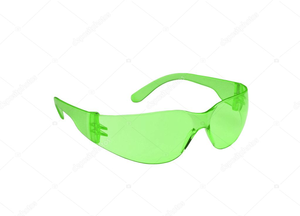 Photo of green glasses isolated — Stock Photo #6587913