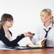 Business communication in office - Stock Photo