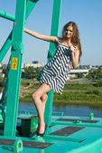 Chica de la grúa — Foto de Stock