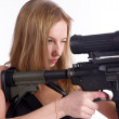 Pretty woman with rifle — Stock Photo #5558207