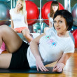 Girl in fitness center — Stock Photo #5585670