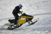 Jumping snow rider — Stock Photo