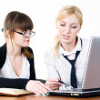 Meeting of young business ladies — Stock Photo #5598704