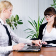 Meeting of young business ladies — Stock Photo #5598779