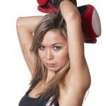 Boxing girl — Stock Photo #5675759