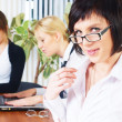 Meeting of young business ladies — Stock Photo #5803059