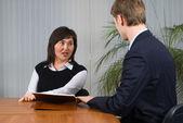 Reunião de negócios no escritório — Fotografia Stock