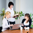 Meeting of young business ladies — Foto Stock