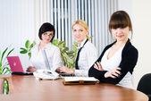 Trabalho de escritório de senhoras jovens negócios — Foto Stock