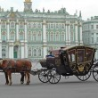 Carriage near the Hermitage in St. Petersburg - Stock Photo