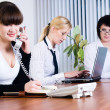 Meeting of young business ladies — Stock Photo #6262337