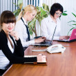 Meeting of young business ladies — Stock Photo #6463989