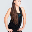 Pretty girl with afrivan braids — Stock Photo #6643836
