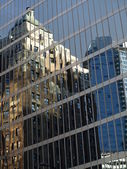 Window reflection from Vancouver city — Stock Photo