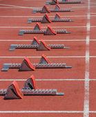Start on 100 meters dash — Stock Photo