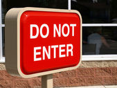 Do not enter - red sign — Stock Photo
