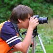 Young photographer — Stock Photo #6323317