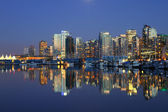 Vancouver evening cityscape — Stock Photo